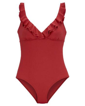JETTE Badeanzug Badeanzüge rot Damen Gr. 42D