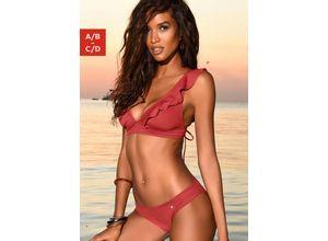 JETTE Triangel-Bikini rot Damen Triangel-Bikinis Bikinis Damenbademode Bikini-Sets