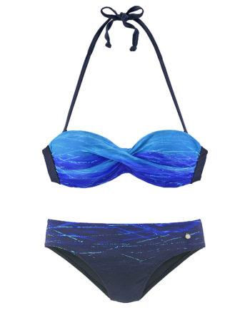 LASCANA Bügel-Bandeau-Bikini Bikinis blau Damen Gr. 36A