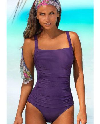 LASCANA Badeanzug Badeanzüge lila Damen Gr. 52C