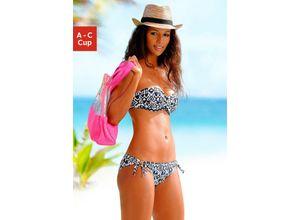 LASCANA Bandeau-Bikini-Top Grace schwarz Damen Bikini Oberteile Bikinis Damenbademode Bikini-Oberteile