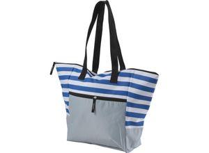 Strandtasche mit Reißverschluss Groß Badetasche XXL für z.b Familie Blau BWE