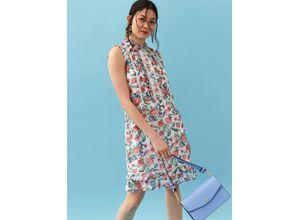 TOP SECRET Sommerkleid mit floralem Allover-Print weiß Damen Knielange Kleider