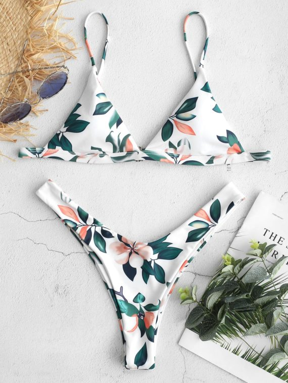 ZAFUL Bikini-Set mit hohem Beinausschnitt