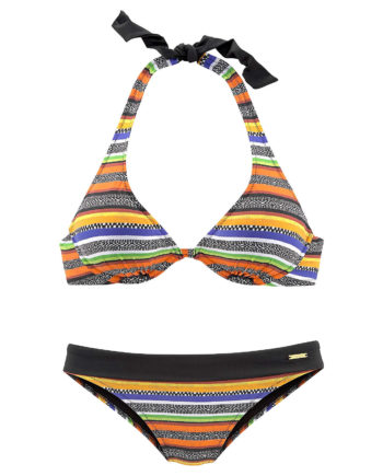 bruno banani Bügel-Bikini Bikinis schwarz Damen Gr. 38C