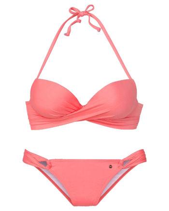 s.Oliver Beachwear Push-Up-Bikini Bikinis apricot Damen Gr. 38A