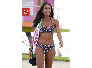 s.Oliver Beachwear Push-Up-Bikini-Top Valencia blau Damen Bikini Oberteile Bikinis Damenbademode Bikini-Oberteile