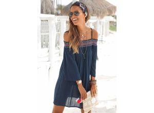s.Oliver Beachwear Strandkleid blau Damen Freizeitkleider Kleider