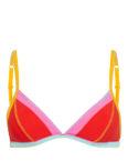 Banana Moon Triangel-Bikini-Top Teknicolor rot